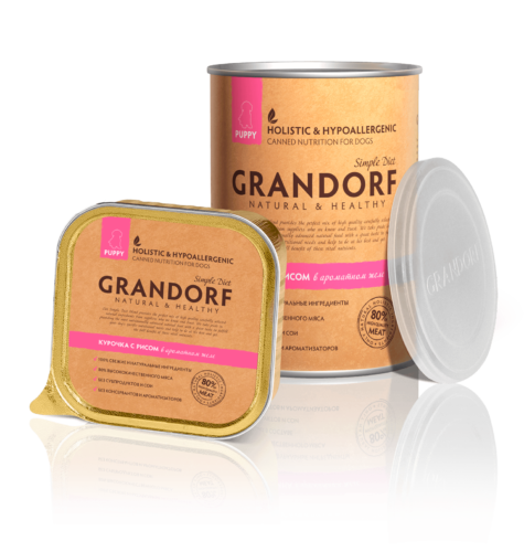 Grandorf Junior консервы с Курицей и рисом, 400 гр