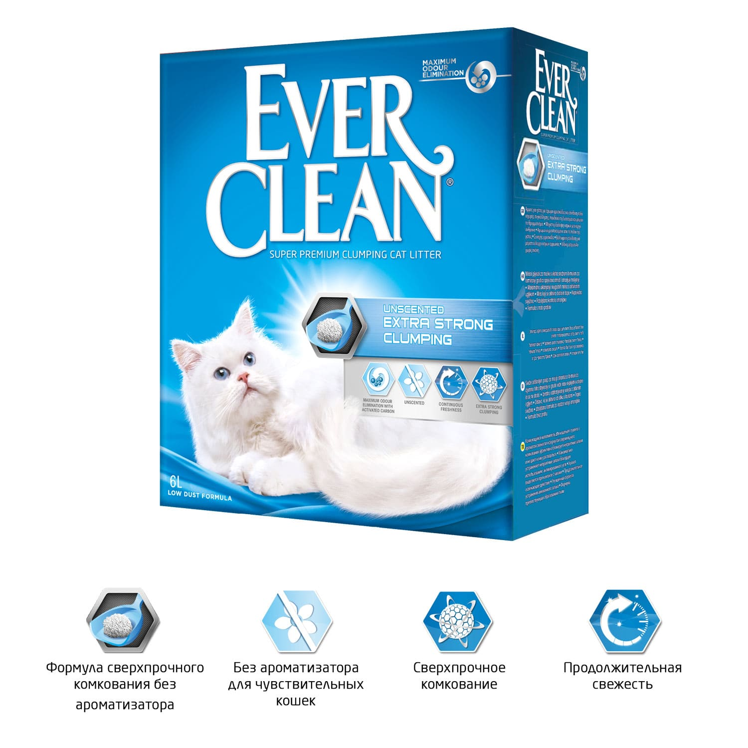 Ever Clean Extra Strong Clumping Unscented, 10 л