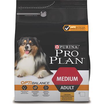 PRO PLAN® OPTIBALANCE® для взрослых собак средних пород, с курицей, 14 кг