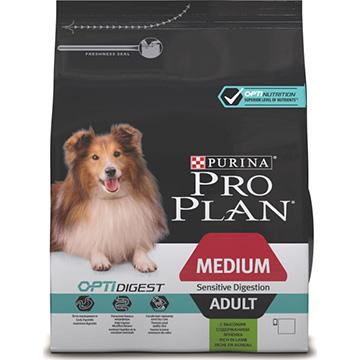 PRO PLAN® OPTIDIGEST® для взрослых собак средних пород с чувствительным пищеварением, с ягненком, 14 кг