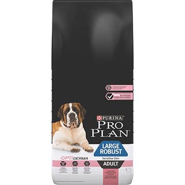 PRO PLAN® OPTIDERMA® для взрослых собак крупных пород мощного телосложения, с лососем, 14кг