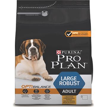 PRO PLAN® OPTIBALANCE® для взрослых собак крупных пород мощного телосложения, с курицей, 14кг