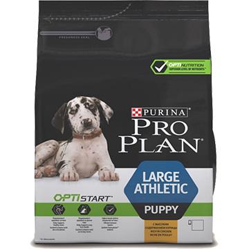 PRO PLAN® OPTISTART® для щенков крупных пород атлетического телосложения, с курицей, 12кг