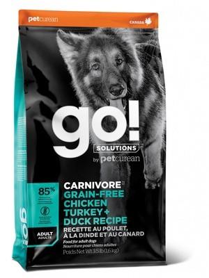 GO! Carnivore GF 4 вида мяса: индейка, курица, лосось, утка, 9,98кг