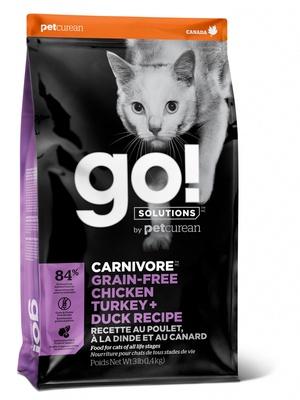 Go! Solutions беззерновой Курица, Индейка, Утка и Лосось 1,4 кг