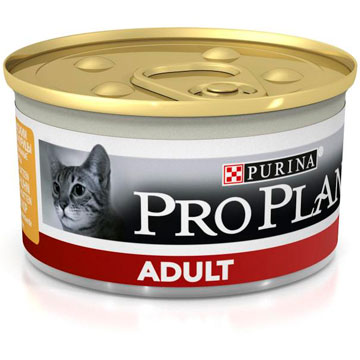 PRO PLAN® ADULT консервы паштет с курицей, 85 гр