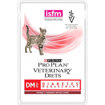 PRO PLAN® VETERINARY DIETS DM ST/OX DIABETES MANAGEMENT с говядиной, 85 гр