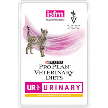 PRO PLAN® VETERINARY DIETS UR ST/OX URINARY  с курицей, 85 гр