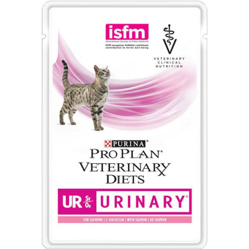 PRO PLAN® VETERINARY DIETS UR ST/OX URINARY  с лососем, 85 гр