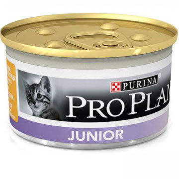 PRO PLAN® JUNIOR  консервы паштет с курицей, 85 гр