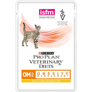 PRO PLAN® VETERINARY DIETS OM ST/OX OBESITY MANAGEMENT  с курицей, 85 гр