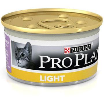PRO PLAN® LIGHT консервы паштет с индейкой, 85 гр
