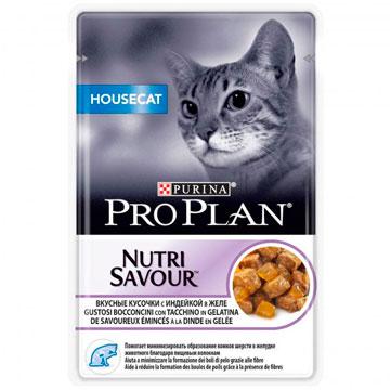 PRO PLAN® NUTRISAVOUR® HOUSECAT  с индейкой, в желе, 85 гр