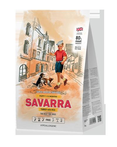 Savarra PUPPY с Индейкой 18 кг