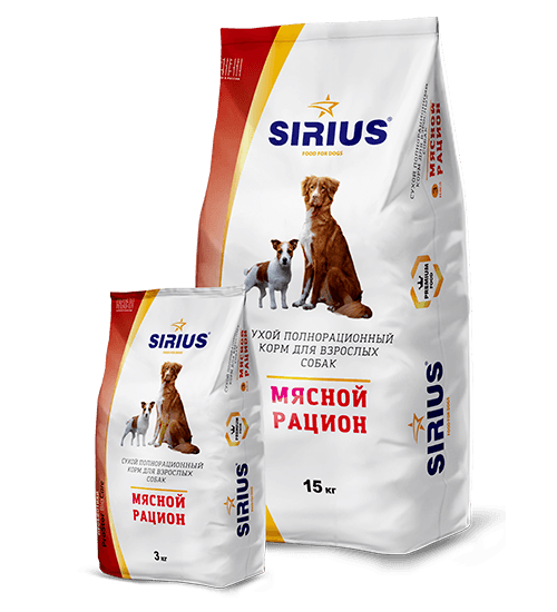 SIRIUS (Сириус) мясной рацион, 15 кг
