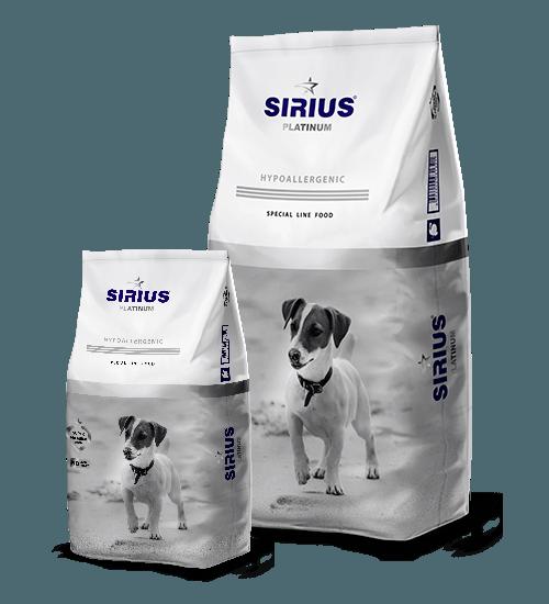 SIRIUS PLATINUM (Сириус) для собак малых пород с индейкой и овощами, 1,2 кг