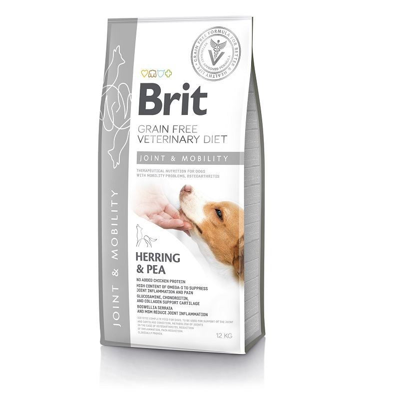 Brit Veterinary Diet Dog Grain Free Joint & Mobility, 12кг