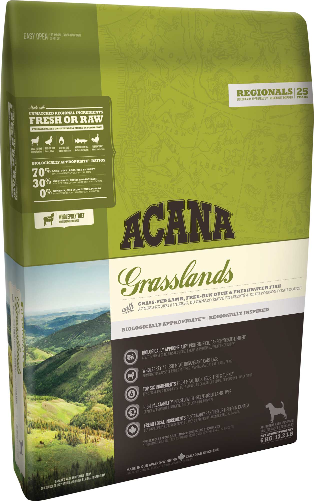 ACANA GRASSLANDS DOG 11,4 кг