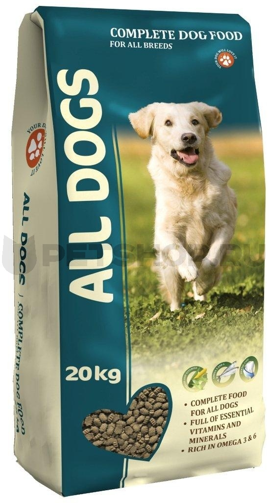 Корм ALL DOGS для взрослых собак 20кг