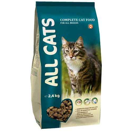 Корм ALL CATS для  взрослых кошек  2,4 кг