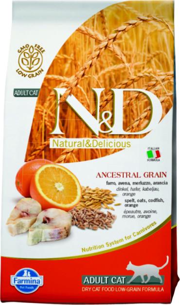 N&D Low Grain Cat Codfish & Orange 1,5 кг.
