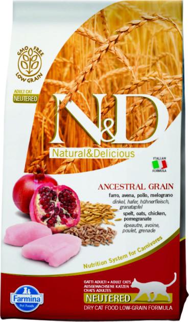 N&D Low Grain Cat Chicken & Pomegranate Neutered 1,5 кг.