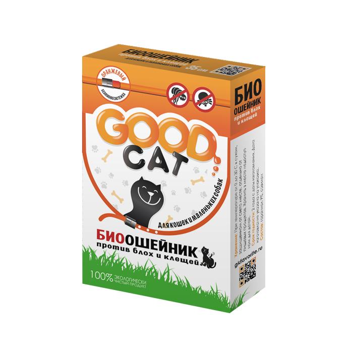 Good cat Био Ошейник для кошек и маленьких собак ОРАНЖЕВЫЙ