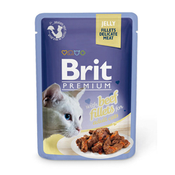 Brit Premium Beef Fillets in Jelly 85 гр