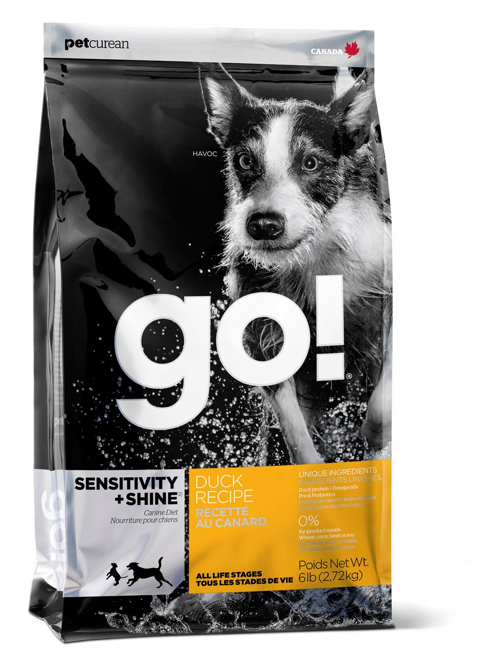 GO! Sensitivity с цельной уткой и овсянкой, 11,35кг