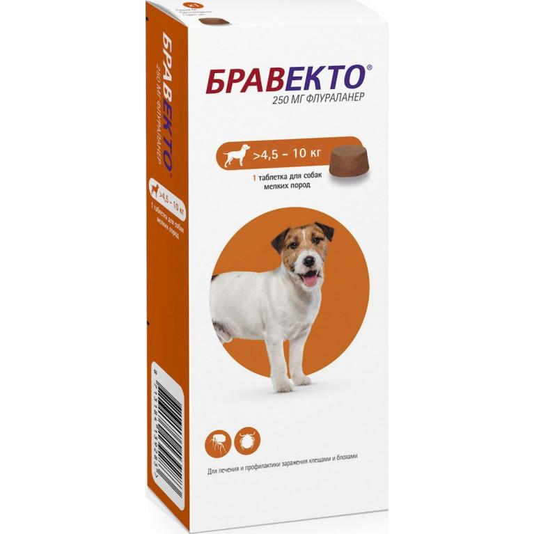 Бравекто для собак 4,5-10 , 250 мг
