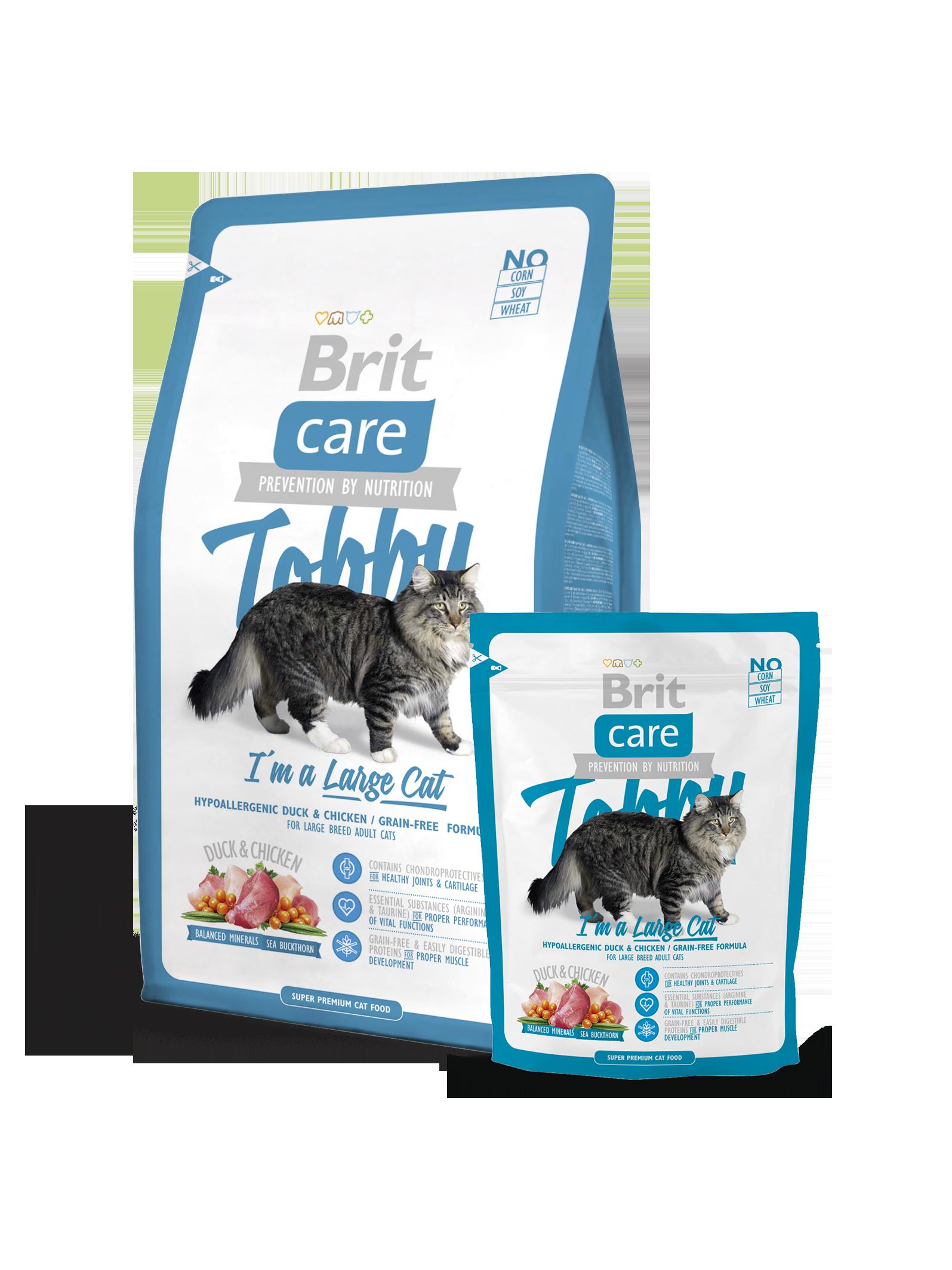 Brit Care Cat Tobby I'm a Large Cat, 2кг