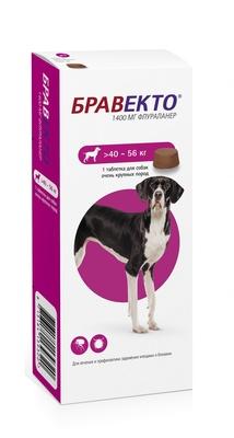 Бравекто для собак 40-56кг, 1400мг
