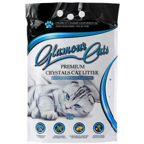 Наполнитель Glamour Cats Голубые кристаллы 3,8л