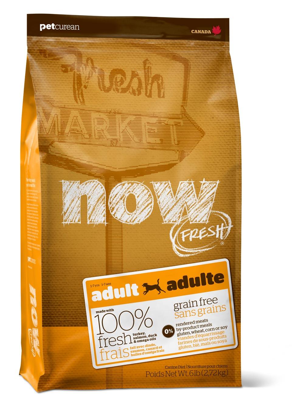 NOW FRESH™ для собак всех пород с Индейкой, Уткой и овощами 2,72 кг
