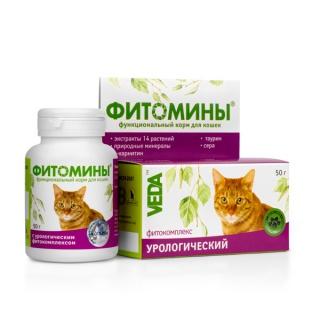 ФИТОМИНЫ с урологическим фитокомплексом для кошек, 50гр