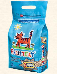 Акция PrettyCat Впитывающий Aroma Fruit 4 кг (8л)